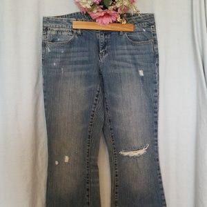 American Eagle Flare Leg Jeans Size 8 long